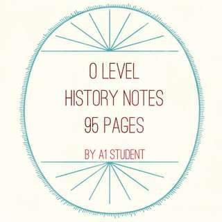 O level History Notes