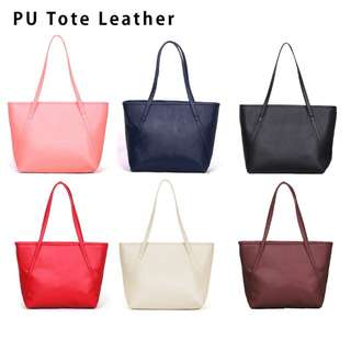 Tote bag leather
