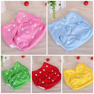 WASHABLE ADJUSTABLE BABY CLOTH DIAPER