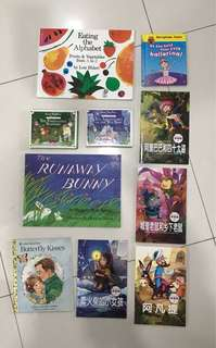6 Chinese and English storybooks for 3-7yrs old.