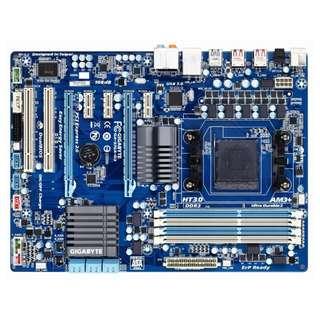 技嘉 GA-970A-D3 全固態電容主機板、AM3+腳位、USB3.0、DDR3記憶體、雙PCI-E顯示插槽、附檔板