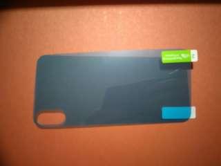 全新 iphone X 透明機背軟貼 (藍色是保護膜)