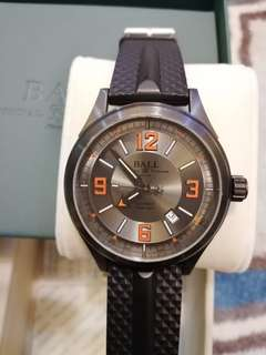 Ball Watch Company Fireman Racer DLC Automatic Rubber Strap Grey Dial  Product code: NM3098C-P1J-GYOR