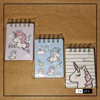Unicorn notepads (flip)