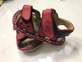 💯 Authentic Florsheim Kids Adjustable leather/rubber Baby sandals