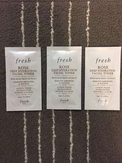 Fresh Rose Deep Hydration Facial Toner Mini Set