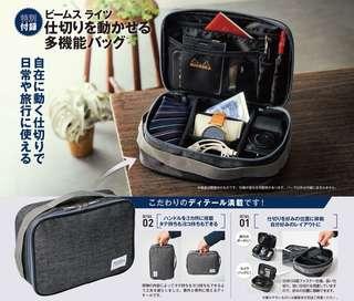 日本雜誌Monomax 預訂,今期附錄品 🉐 Beams Lights - 萬用 Travel Pouch 🉐