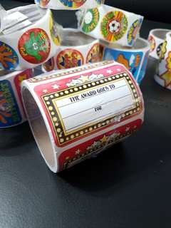 [INSTOCK] BN Roll of Jumbo The Award Goes To Motivational Stickers (Oriental Trading)