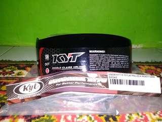 Visor helm dark flat KYT K2r R10 RC7