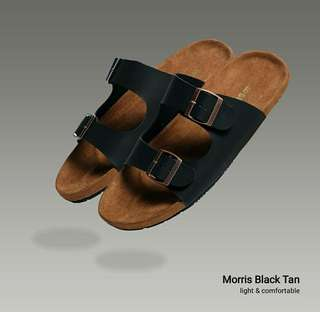 Morris Tan Sandal (Black)