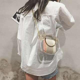 chic鏈條手袋復古水桶包簡約百搭果凍包