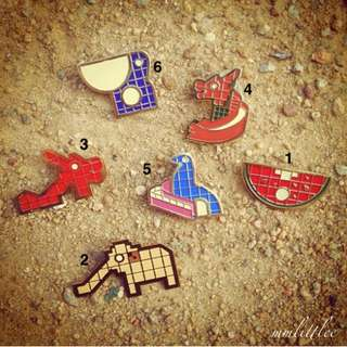 LITTLE DRÖM STORE Playground Brooches / Pins - 2 For $20