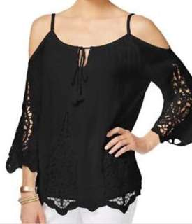 Cotton on black cold shoulder top