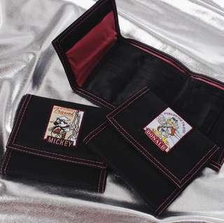 米奇/唐老鴨刺繡皮夾錢包