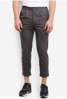 Cropped Charcoal Trouser
