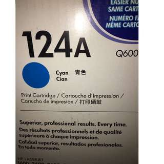 HP 124A CYAN TONER CARTRIDGE Q6001A