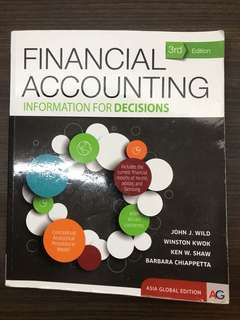 Financial Accounting Information for Decisions 3rd Edition