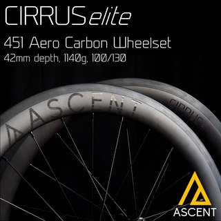 ASCENT Cirrus Elite Carbon Wheels for 451 foldies and mini velos