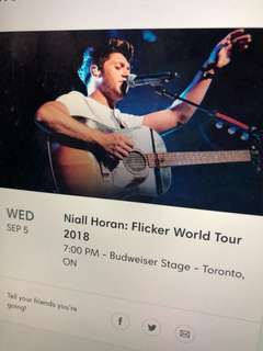 Niall Horan Concert Tickets ($220 for both)