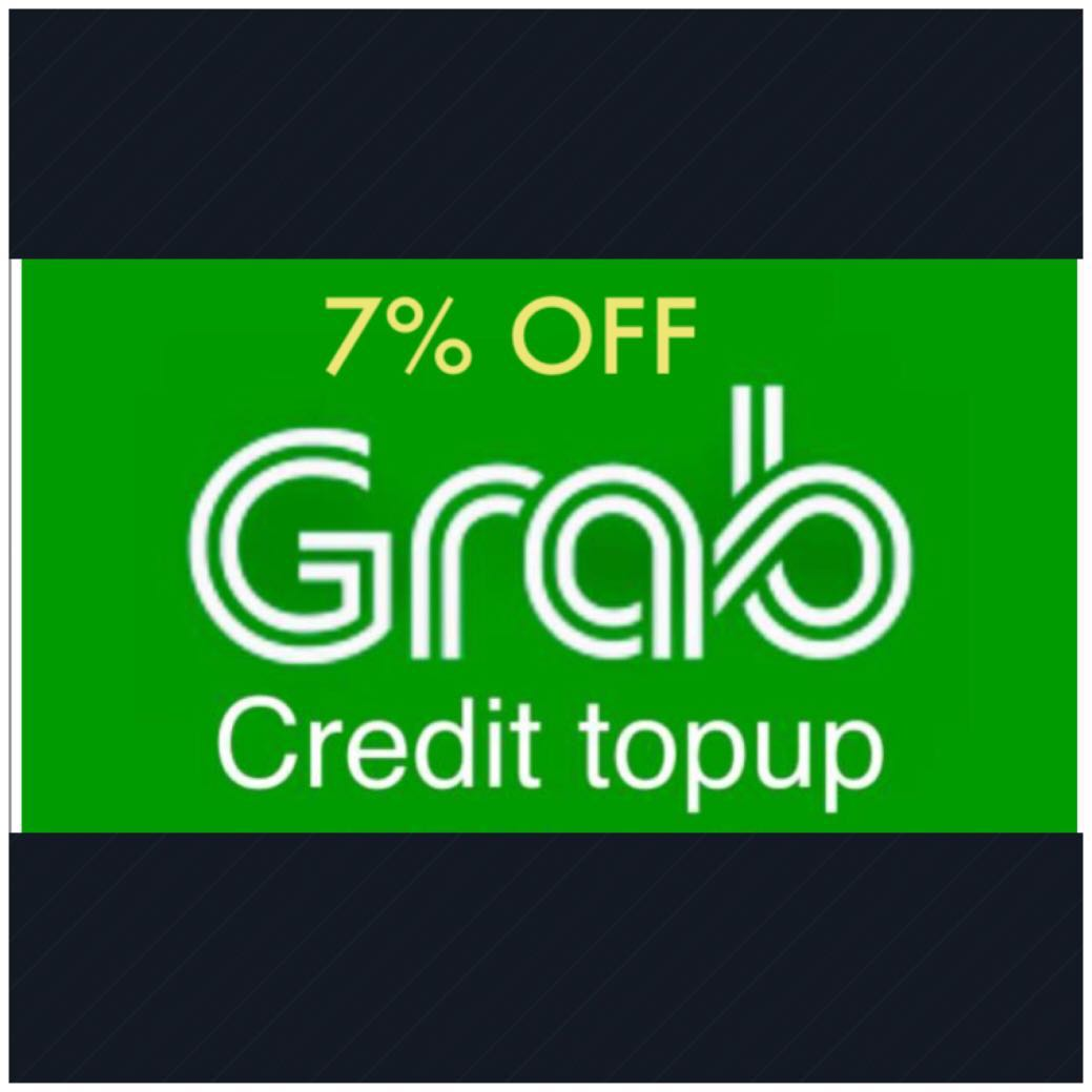 7% OFF Grabpay credits top up