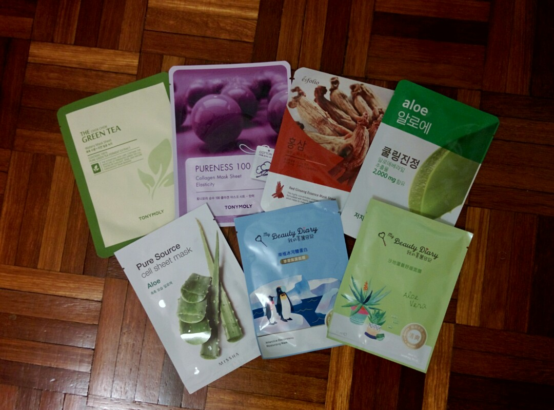 7 For Rm20 Korean Face Masks Health Beauty Skin Bath Body Images Care Facial Mask Masker Wajah Korea Good Quality On Carousell