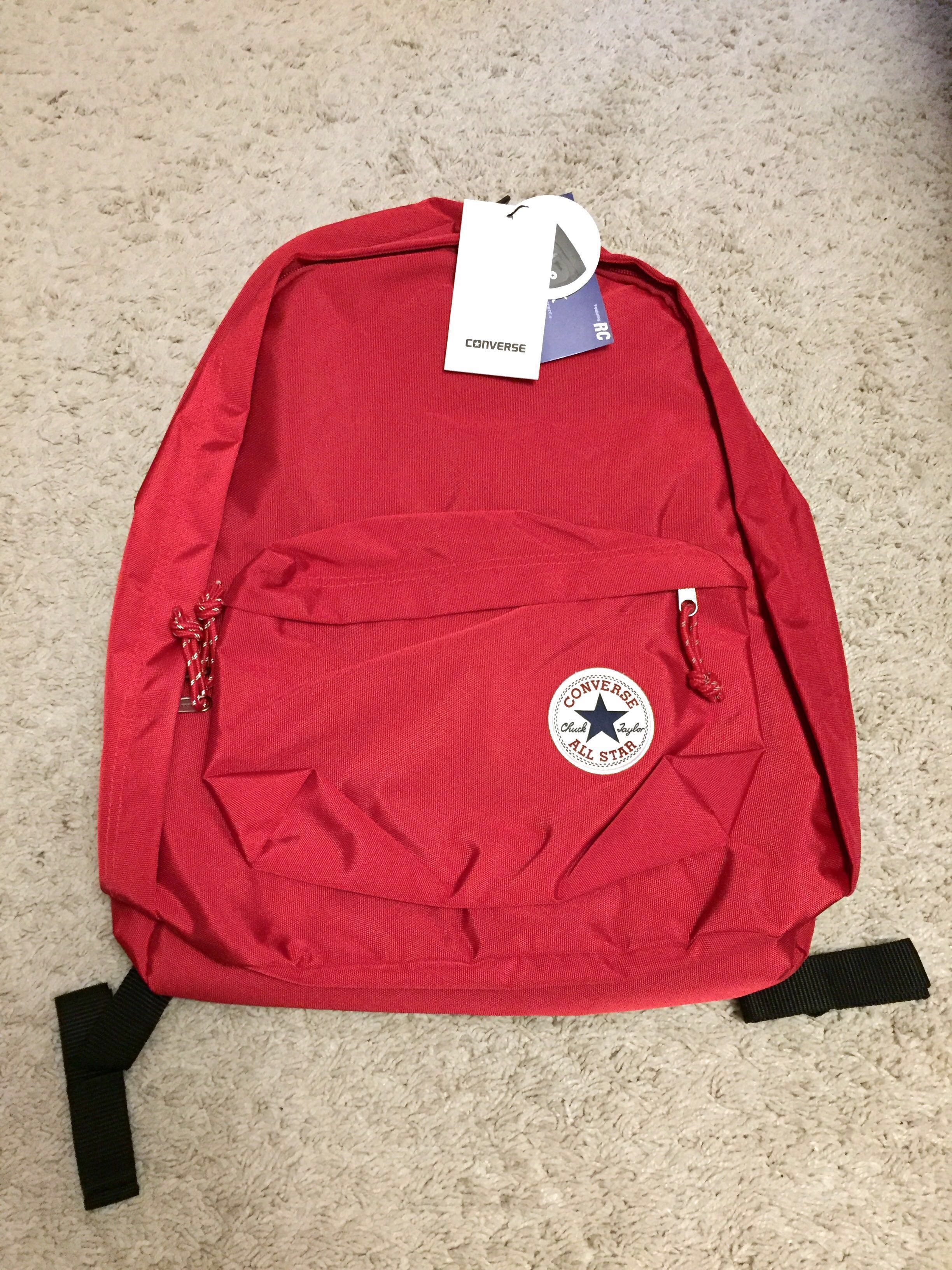 29d84e7060 Authentic converse backpacks (red and navy blue)