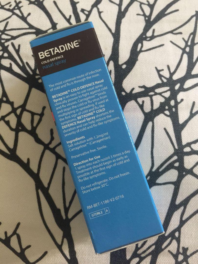 Brand New In Box - Betadine Cold Defence Nasal Spray