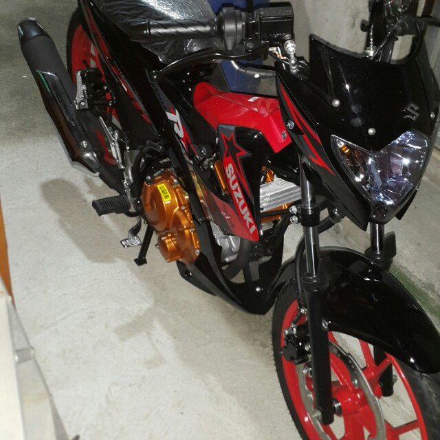 Raider 150 2018 Model >> Brand new Suzuki Raider R150 Red, Motorbikes on Carousell