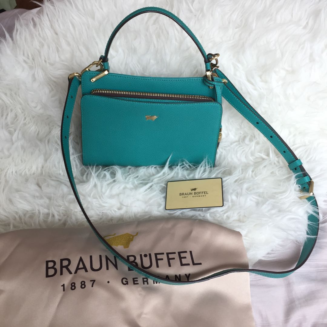 2c15c149bbe2 Braun buffel OPHELIA G SMALL TOP HANDLE bag in tosca green