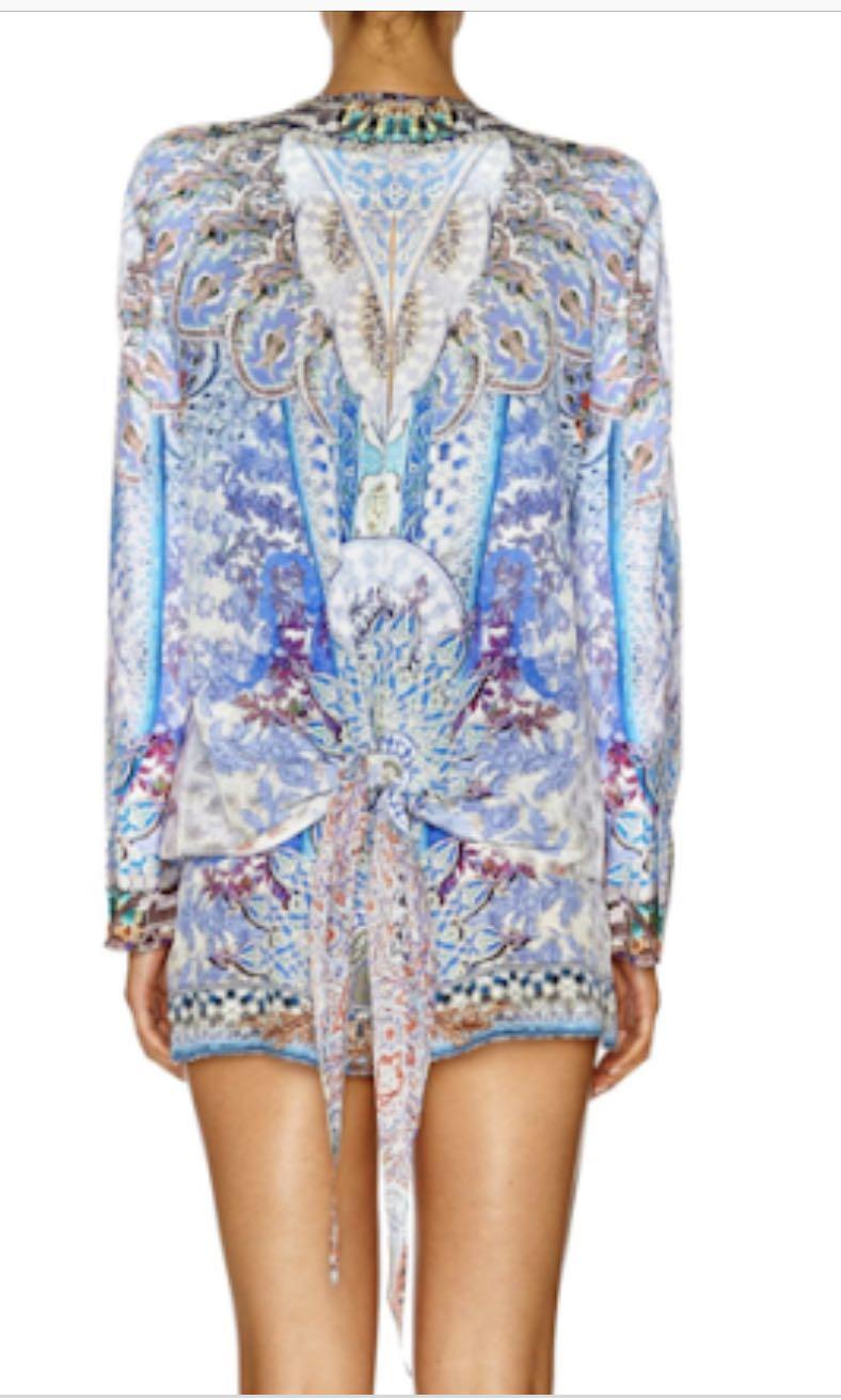 CAMILLA Concubine Realm Silk tie back jacket