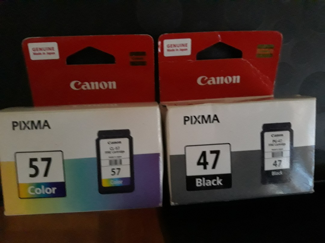 Canon Ink Cartridge Pg 47 And Cl 57 Electronics Computer Parts Original Photo