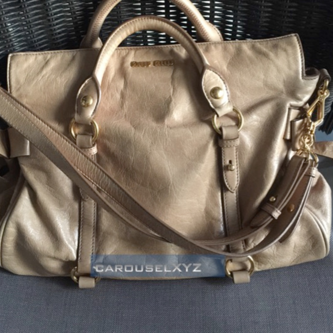 939fcb27a430 CLEARANCE!! MIU MIU Bow Bag in Light Brown