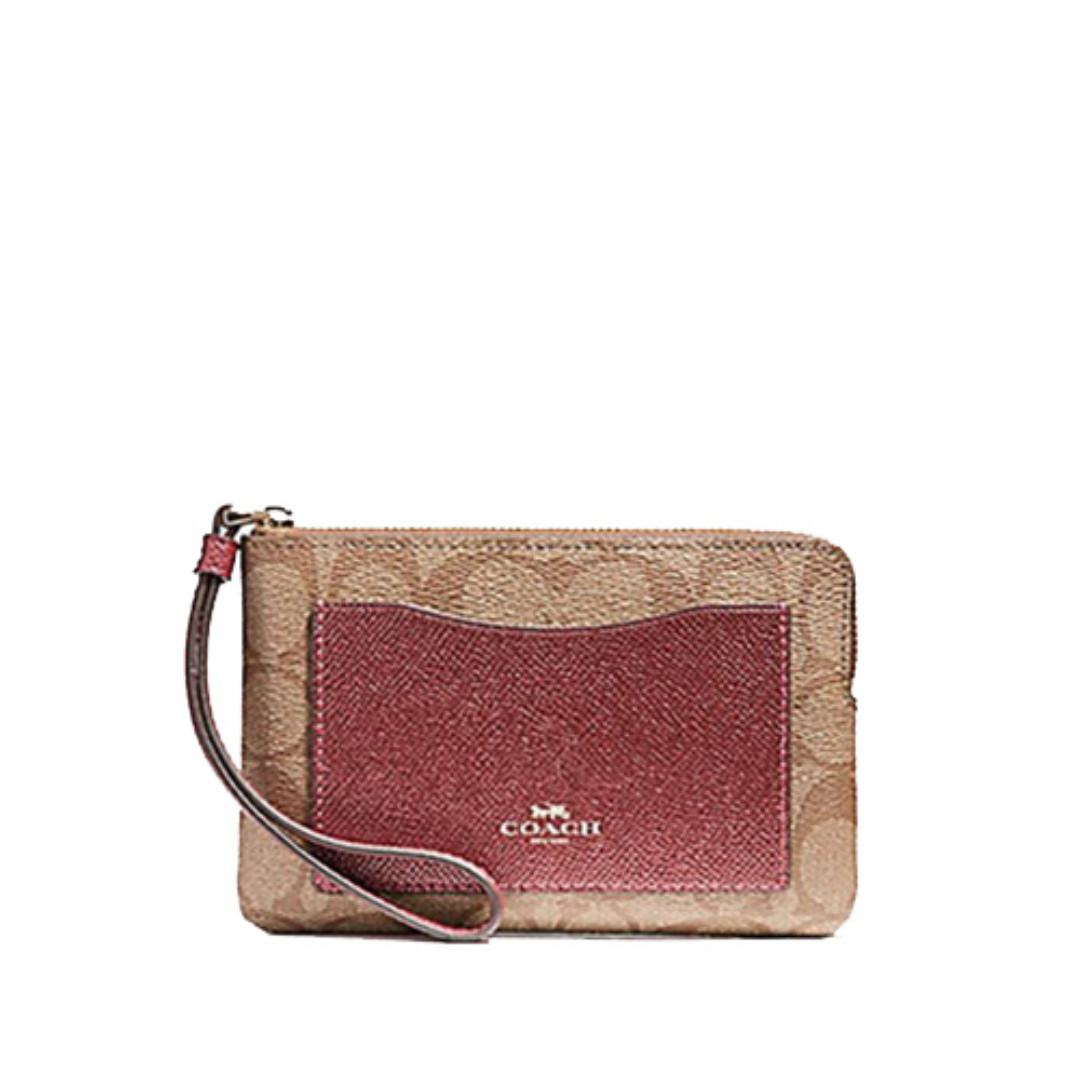 4401223469e1 Coach Signature Wristlet With Pocket, Luxury, Bags & Wallets, Others ...