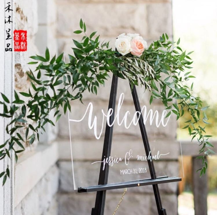 Customized Wedding Welcome Board At Reception Design Craft