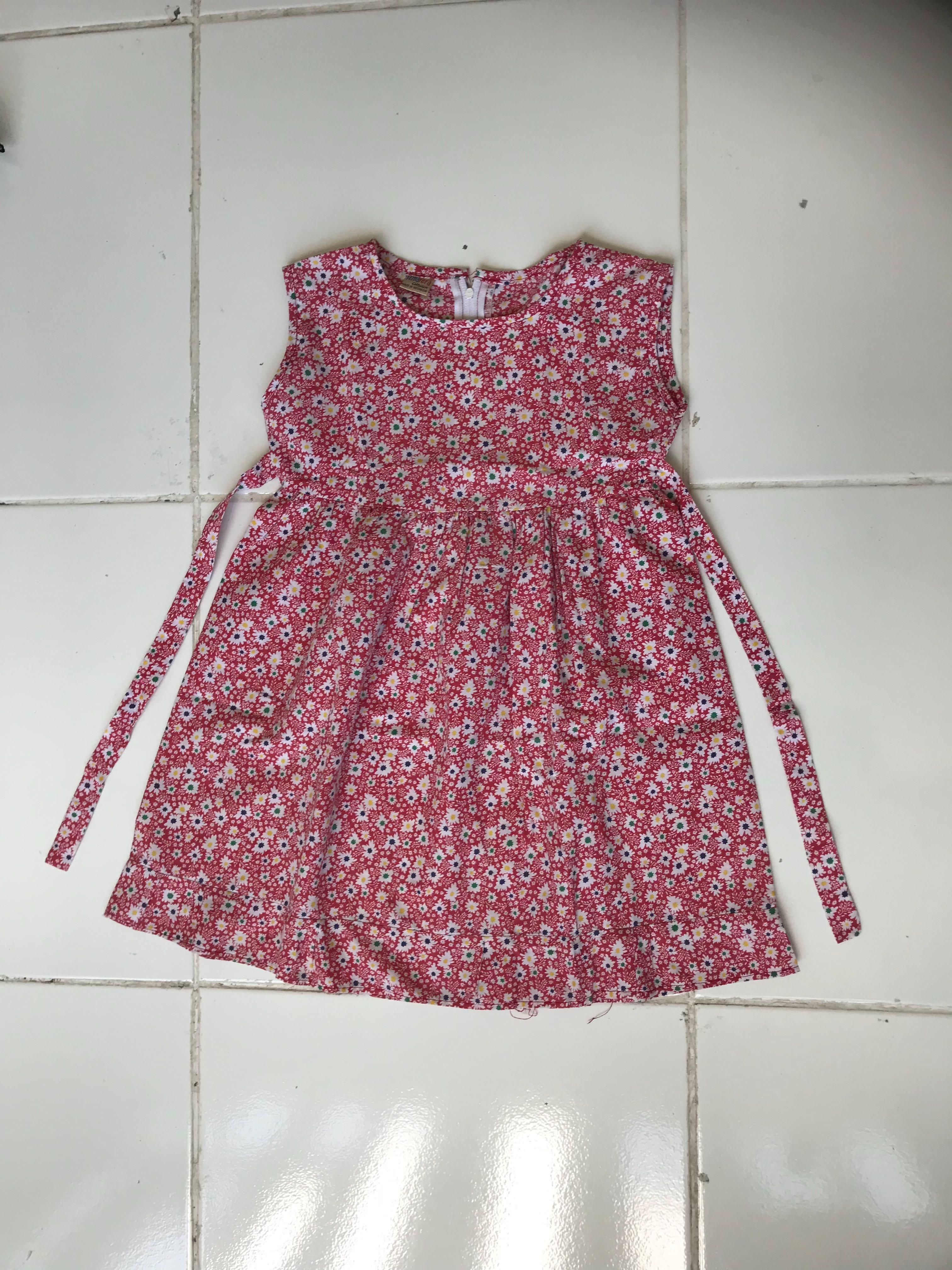 Dress motif bunga batik anak