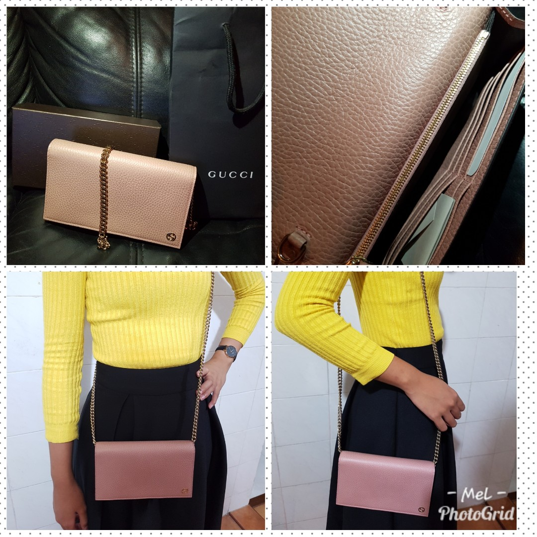 3d901a29e0d8 Gucci Betty Leather Crossbody Wallet On Chain *REDUCED PRICE*, Luxury, Bags  & Wallets on Carousell