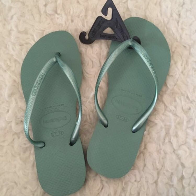 dfe5e91d96057 Havaianas Slim in Green Tea