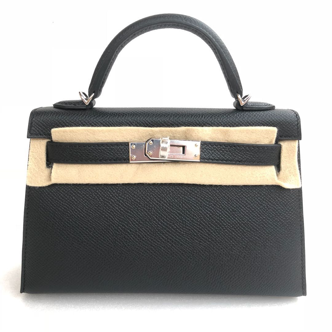 a8aa60f785a ... where to buy hermes black mini kelly 20 in veau epsom with phw luxury  bags wallets ...