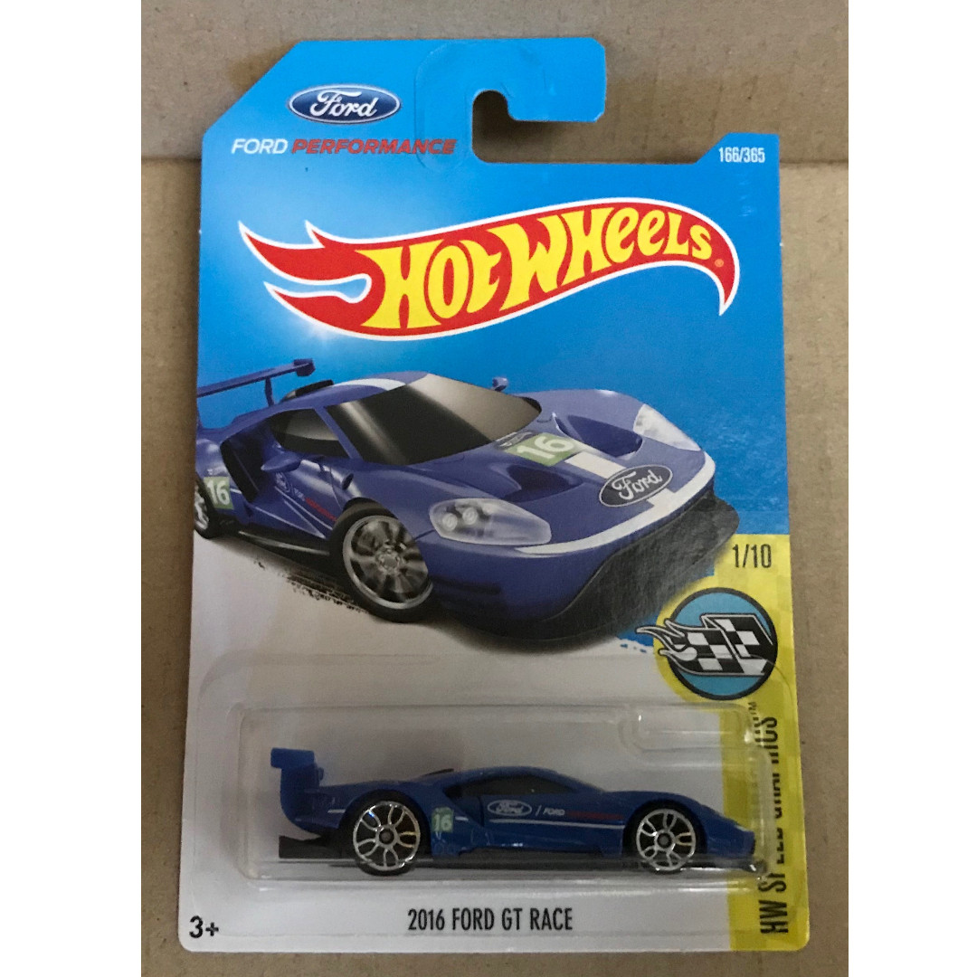 Hot Wheels 2017 # 166//365 2016 Ford Gt Race Blu Hw Velocità Immagini Nuovo