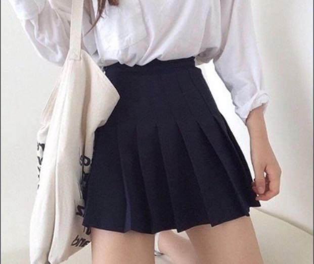 (INSTOCKS) NAVY BLUE TENNIS SKIRT