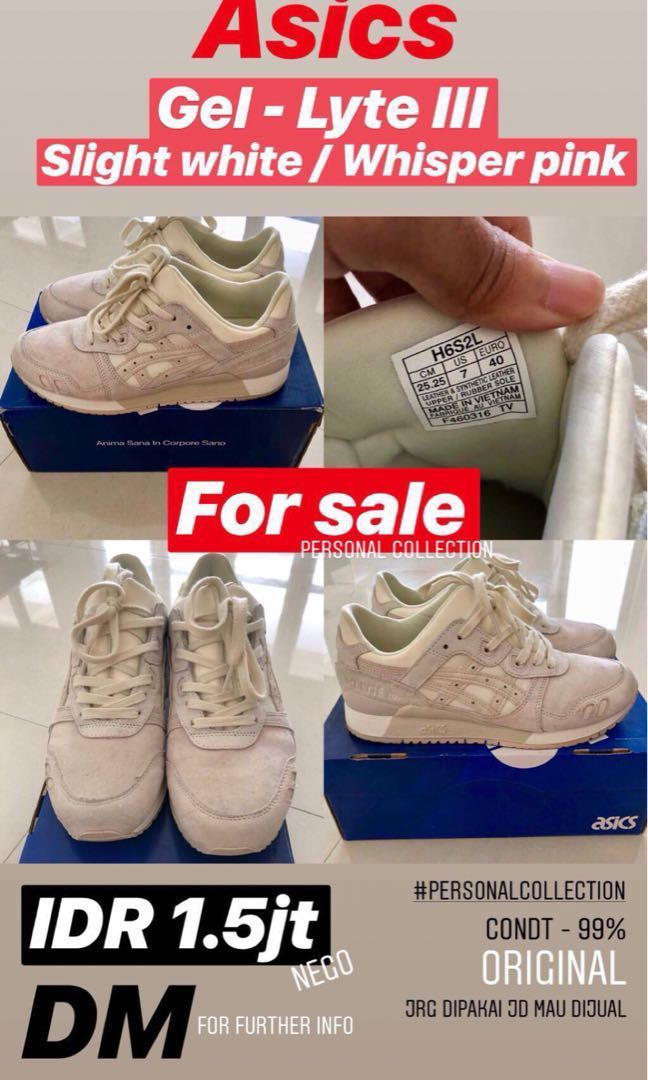 Jual Sepatu Asics Ori Gel Lyte Iii Slight White Whisper Pink cad2e7595c