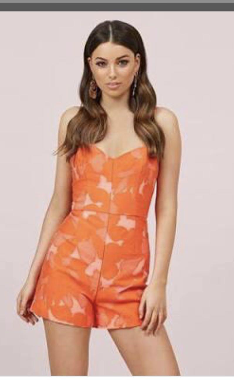 2f630de242 Kookai orange Florence playsuit