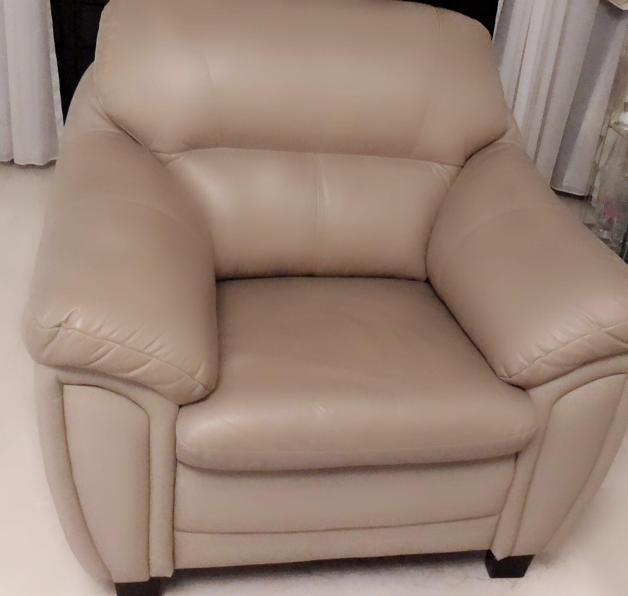 Leather Sofa Furniture Sofas On Carousell