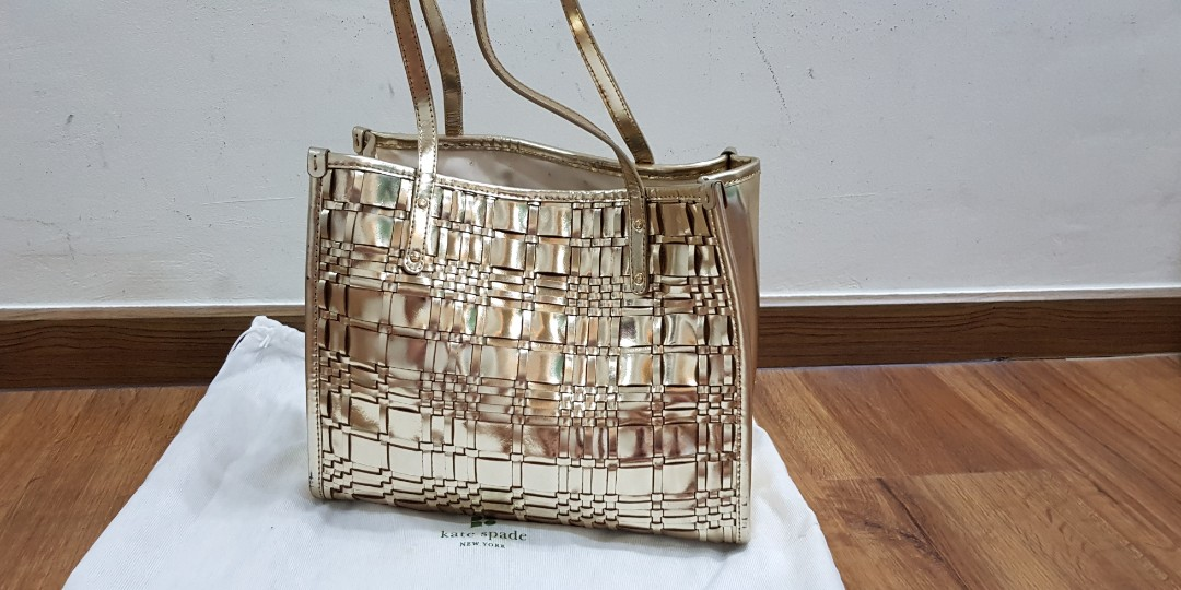 Lightly used Kate Spade Gold bag