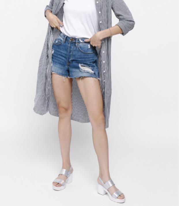 79326365e9b Love Bonito - Dionda Striped Midi Shirt Dress (New)