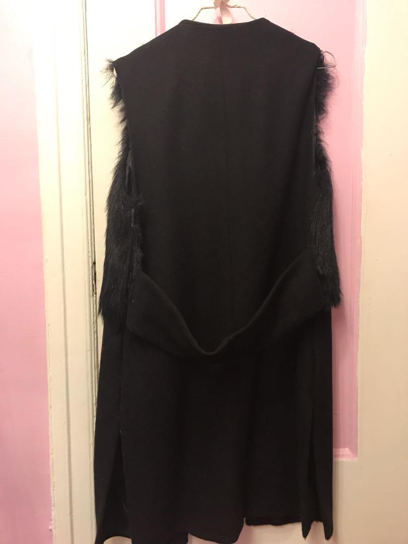 M boutique long sleeveless fur vest
