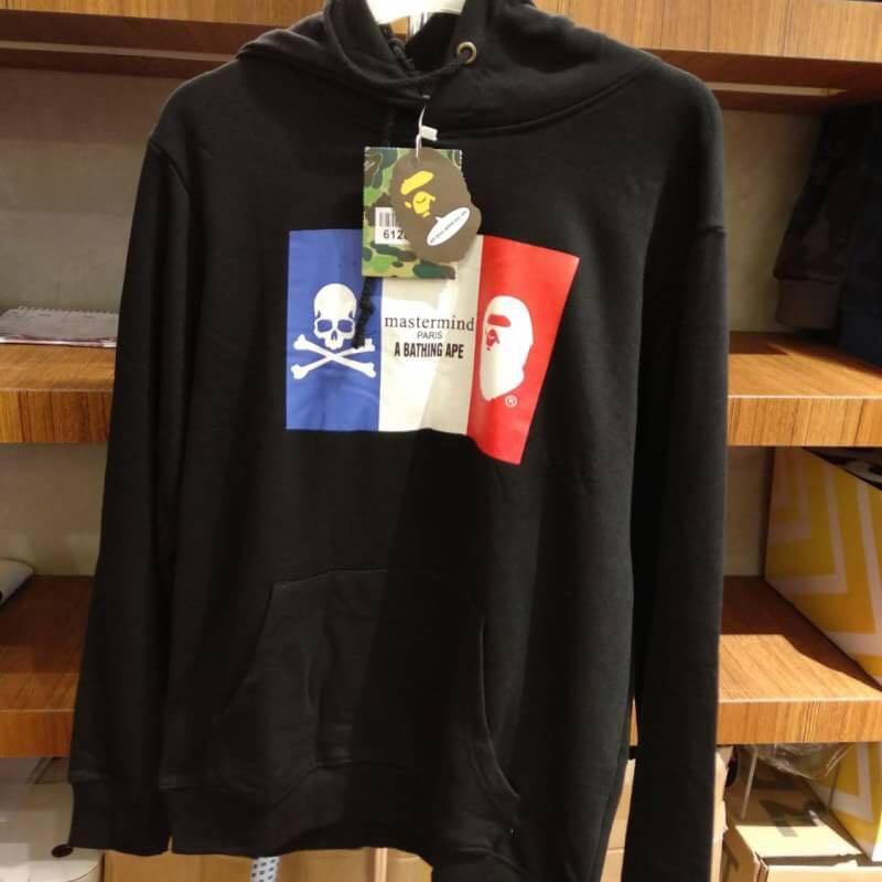 efce180c74e0 Mastermind Japan x BAPE Paris Collection Black Hoodie