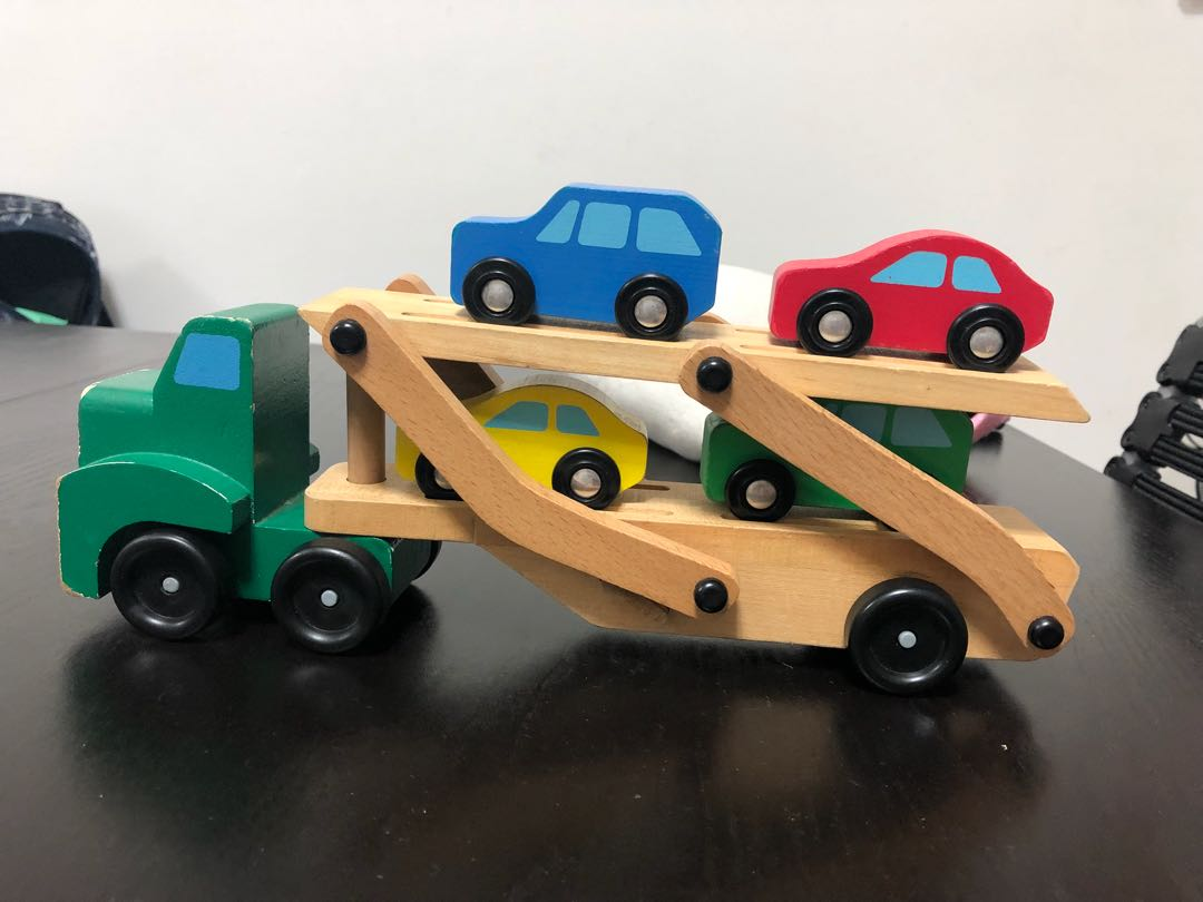 Melissa And Doug Car Carrier Set And Fire Truck Babies