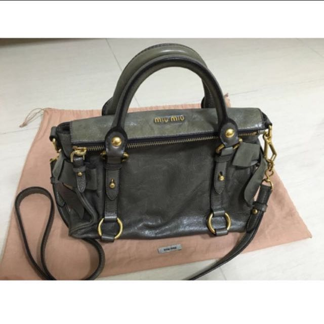 261fa9c482fd Miu Miu Vitello Mini Bow Leather Satchel