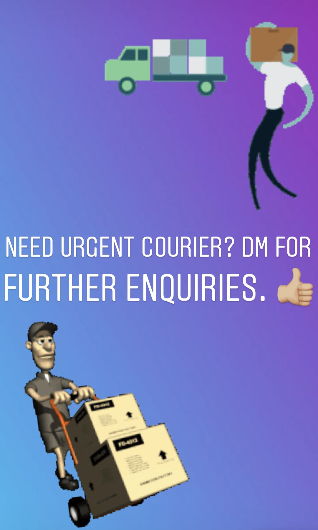 Need a courier 27